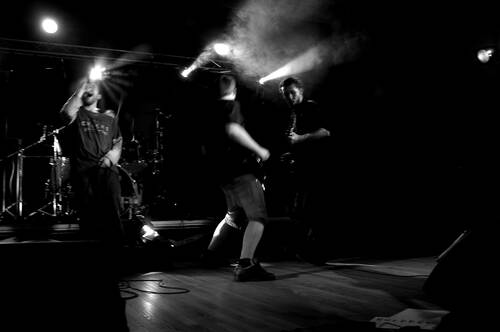 Concert de Nico avec son groupe