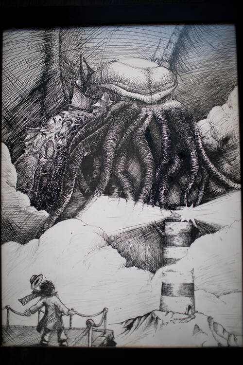 Complete drawing of Cthulhu